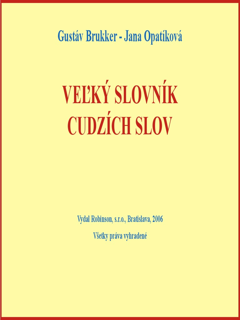 c234de356 Velky Slovnik Cudzich Slov