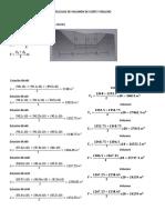 Cálculos de Volumen de Corte y Relleno