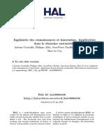 2001 IngA Nierie Des Connaissances Et Innovation Application Dans Le Domaine Automobile