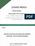 Publicidade Medica e Redes Sociais-Curso de Etica Medica Para Residentes