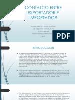 Contacto Entre Exportador e Importador