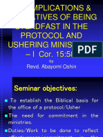 2017 Aaron and Hur Paper on Protocol and Ushers Ministry