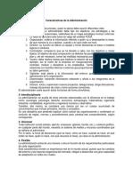 10 Características de La Administración