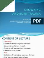 Drowning and Burn Trauma
