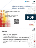 14794 How to Make Databases on Linux on System z Highly Available-A2014