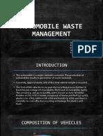 Automobile Waste Management