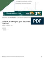 O Novo Interregno (Por Boaventura de Sousa Santos) - Sul21