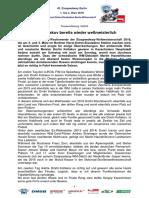 Eisspeedway Berlin 2018, Pressemitteilung 180205