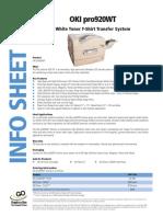 OKI ProColor 920WT LED White Toner Transfer Printer