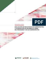 Evaluación de resultados de subproyectos - PROSAP BIRF 7597