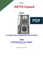Papus - Congres Franc-maconnerie 1908