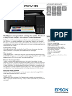 Epson EcoTank ITS Printer L4150 Datasheet