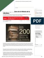 Los 200 Mejores Libros de La Historia de La Literatura _ Area Libros