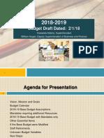 Revised Budget Presentation 1st Draft for 02012018