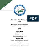 Módulo i El Conocimiento y La Ciencia (4) (1) (6) (1)