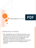 Amendment to CPC I