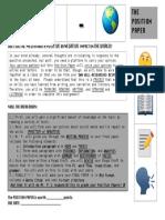 Position Paper Assignment Sheet