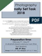 gcse photo exam brief 2018