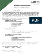 FIPSE Student Portfolio Information Form SPIF