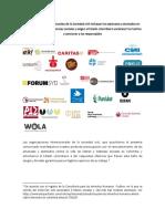 Organizaciones Internacionales de la Sociedad civil rechazan los asesinatos y atentados en contra de los líderes y lideresas sociales y exigen al Estado colombiano esclarecer los hechos y sancionar a los responsables