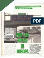 Revista Tráfico nº 41 - Febrero de 1989 - Por las Rutas de Europa