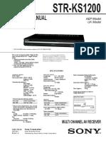Sony Str-ks1200 Ver1.1