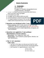 1-3 Sensory Examination