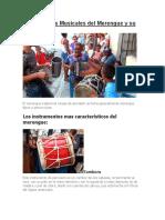 Instrumentos Musicales Del Merengue y Su Evolución