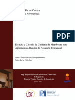 Estudio y Cálculo de Cubierta de Membrana para Aplicación a Hangar de Aviación Comercial Con Planos