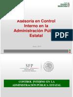 Asesoría en Control Interno en La Administración Pública Estatal