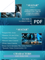Pelicula Avatar-presentacion de Ingles-examen Oral