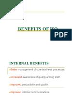 Benefits of ISO