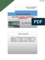 Clase 6 y 7 Agua Consumo e Industria Definfeccin