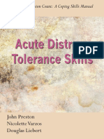 Acute Distress Tolerance Skills