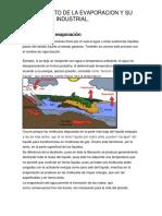 1.1 Concepto de La Evaporacion y Su Aplicacion Industriual.