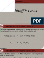 Notes in Kirchhoff's Laws