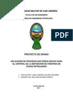 Aplicac de Proc Bacter Ctl de La Deposición de Parafina