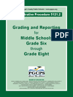 Administrative Procedure For PGCPS Middle Schools