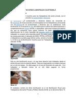Prestaciones Laborales Guatemala