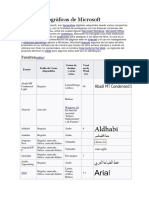 Fuentes Tipográficas de Microsoft