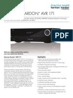 Specification Sheet - AVR 171 (English)