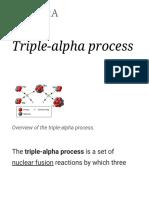 Triple Alpha Process