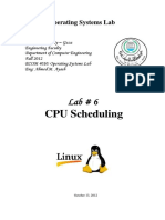 Lab6 CPU Scheduling