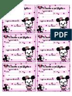 Tarjetas de invitacion Minnie Mouse