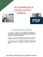 Diseño e Higiene en La Industria Lactea y Carnica