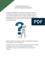 Actividad de Laboratorio N. 2 Diferencias entre compuestos Orgánicos e Inorgánicos