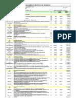 Planilha Orientativa de Serviços, Quantidades e Preços