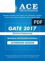 EE GATE 2017 Afternoon 1