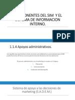 COMPONENTES DEL SIM  Y EL SISTEMA DE INFORMACION.pps
