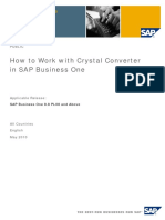 How to Work With Crystal Converter in SAP Business One 8.8 PL08 and Above